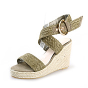 Braided Hemp Rope Wedges Sandals With Buckle Party / Evening / Casual Shoes (More Colors)