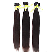 Brazilian Virgin Hair 12 Inch 14 Inch 16 Inch Straight Natural Color Machine Made Wefts 3 Pcs/Set