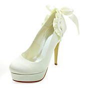Fashion Satin Stiletto Heel Pumps With Ruffles Wedding Shoes (More Colors)