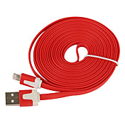 Foudre 8Pin Colorful Charge et Data Cable plat pour l'iPhone 5, iPad Mini, iPad 4, iPod (300cm de longueur)