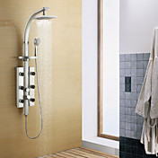 200*200mm Wall Mount Rotatable Shower Panel Faucet with Body Sprays - Painting Finish