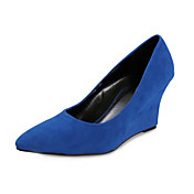 Suede Wedge Heel Pointy Toe Party / Evening Shoes (More Colors)