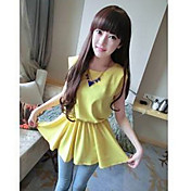 Women's Chiffon Peplum Sleeveless Blouse