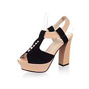Leatherette / Suede Chunky Heel Peep Toe Party / Evening Shoes (More Colors)