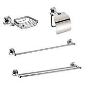 Brass Chrome Finish Bathroom Accessory Sets (Include Soap Holders,Toilet Roll Holders,2 Towel Bars)