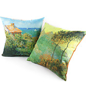 Conjunto de 2 Pond Tampa Suede Pillow Waterlily decorativa