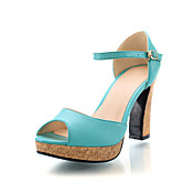 Gorgeous Leatherette Chunky Heel Sandals With Buckle Party / Evening Shoes (More Colors)