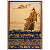 impresso arte crema da tavolla rossa pelo cartaz do vintage