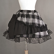 Blend Short Black Cotton Punk Lolita rok