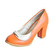 Leatherette Chunky Heel Closed Toe With Bowknot Party / Evening Shoes (More Colors)