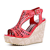 Shining Leatherette Wedge Heel Sandals With Buckle Party / Evening Shoes (More Colors)