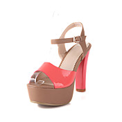 Leatherette Chunky Heel Sandals With Buckle Party / Evening Shoes (More Colors)
