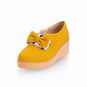 Chic Suede Platform With Bowknot Casual Shoes (More Colors)