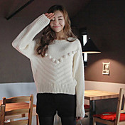 Effen Kleur Dames Sweater