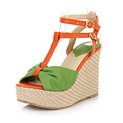 Beautiful Leatherette Wedge Heel Sandals With Buckle Party / Evening Shoes (More Colors)