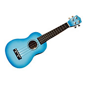NG - Blue Plywood Basswood Soprano Ukulele with Picks