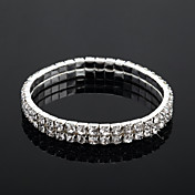 Ladies' Crystal Tennis Bracelet In Silver Alloy