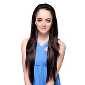 Capless High Quality Synthetic Black Long Stright Hair Hoop Wigs