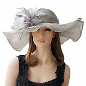 Beautiful Flax With Feather Special Occasion Hats(More Colors)
