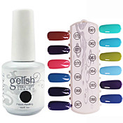 Lentejuelas 1pcs color de esmalte de uñas de gel UV No.61-72 Soak-off (colores surtidos, 15 ml)