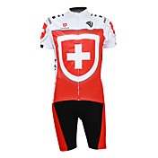 Kooplus 2013 Switzerland Pattern 100% Polyester Short Sleeve Quick Dry Mens Cycling Suits