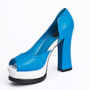 Stylish Leatherette Chunky Heel Peep Toe Party / Evening Shoes (More Colors)