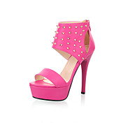 PU Stiletto Heel Rivet Sandals Party / Evening Shoes(More Colors)