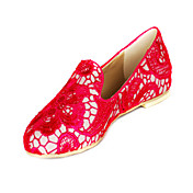 Beautiful Lace Flat Heel Closed Toe Party / Evening Shoes