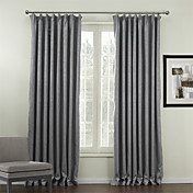 (Two Panels) Classic Print Floral Blackout Curtains