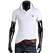 Heren Colour Bar Cotton Polo korte T-shirt mouwen