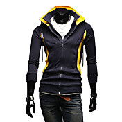 Man's Fashionable Double-Zipper Hoodie with Cap (Assorted Colors)