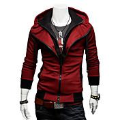Man's Fashionable Slim Cotton Contrast Color Hoodie with Cap(Assorted Colors)