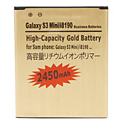 Cell Phone Battery for Samsung Galaxy S3 Mini/i8190 (3.7V, 2450 mAh)