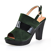 Suede Chunky Heel Slingbacks With Split Joint Party / Evening Shoes (More Colors)