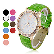 Women's Multi-Functional Quartz Analog Round Zircon Wrist Watch (Assorted Colors)