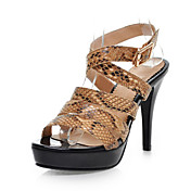 Stylish Leatherette Stiletto Heel Sandals With Buckle Party / Evening Shoes (More Colors)
