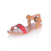 Stylish Leatherette Flat Heel Sandals/Flats With Buckle  Party & Evening Shoes (More Colors)
