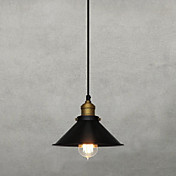 60W Retro Pendant Light with Metal Umbrella Shade in Old Factory Style