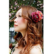 Women's Light Mix Dark Color Double Flower Hair Clip