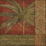 Printed Art Botanical Golden Palm II by NBL Studio