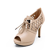 Fashion Leatherette Stiletto Heel Peep Toe With Lace-up Party / Evening Shoes(More Colors)