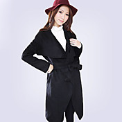 Women's Wool Cape Belted Trench Coat