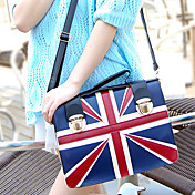 British style Fashion Contrast Color Tote