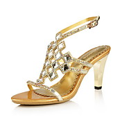 Stylish Leather Stiletto Heel Sandals With Rhinestone And Buckle Party/Evening Shoes(More Colors)