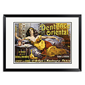 Ingelijste kunstdruk Vintage Dentrifice Oriental door Vintage Apple Collection