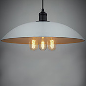 180W Modern Pendant Light with 3 Lights in Big Lid Shade in Loft Style