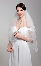 Two Layers Elbow Wedding Bridal Veil