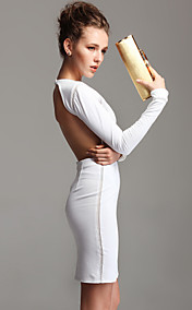 TS Backless Longsleeve Bodycon Dress(More Colors)