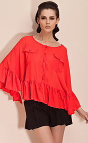 ts bat sleeve ruffle finitura blusa shirt (pi colori)