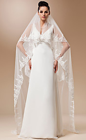 Two-tier Tulle With Applique Chapel Veil (More Colors)